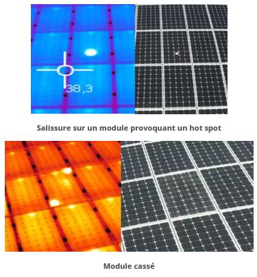 Drone photovoltaique - modules défaillants