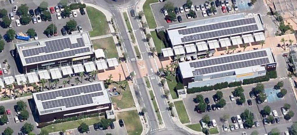 04. Installation en toiture d'un centre commercial (4 bâtiments)