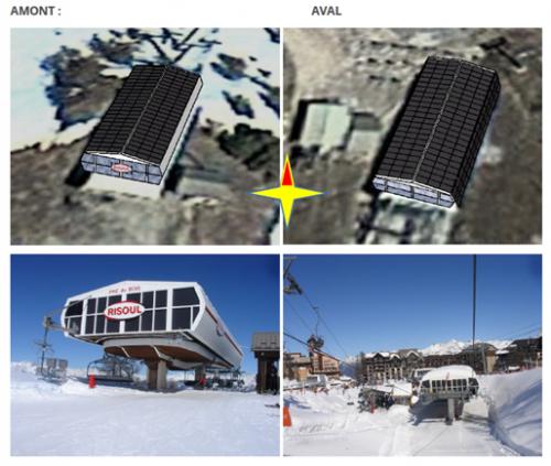 Installation photovoltaïque en autoconsommation – remontées mécaniques Risoul